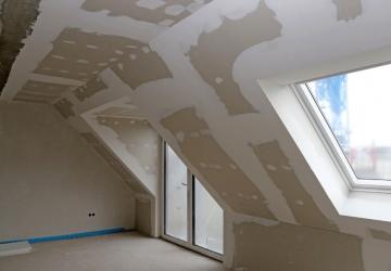 Tetőtér gipszkartonozás